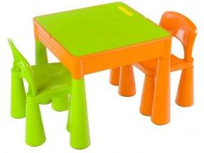 Dětský stoleček a židličky Tega Mamut-zeleno-oranžová