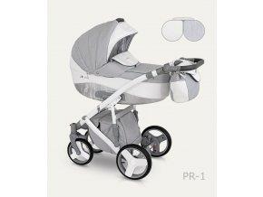 Dětský kočárek Camarelo Pireus světle šedý s bílou