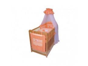detske povleceni do postylky lux myska 8 mi dilne 90 120 cm oranzova