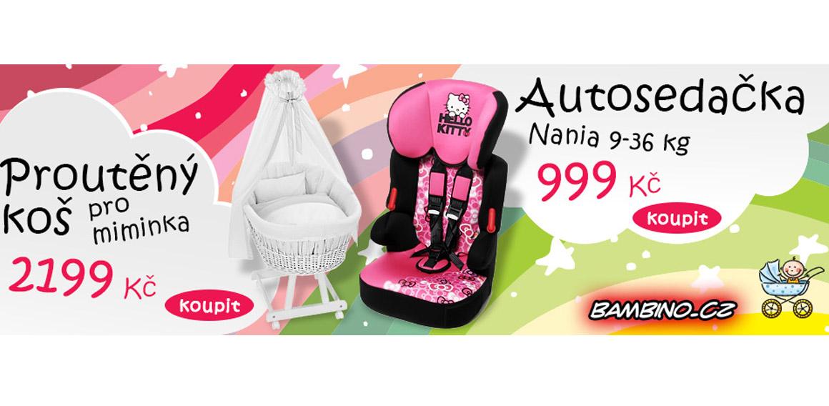 Proutěný koš pro miminka a autosedačka Nania