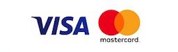 Přijímáme platební karty Visa a Mastercard