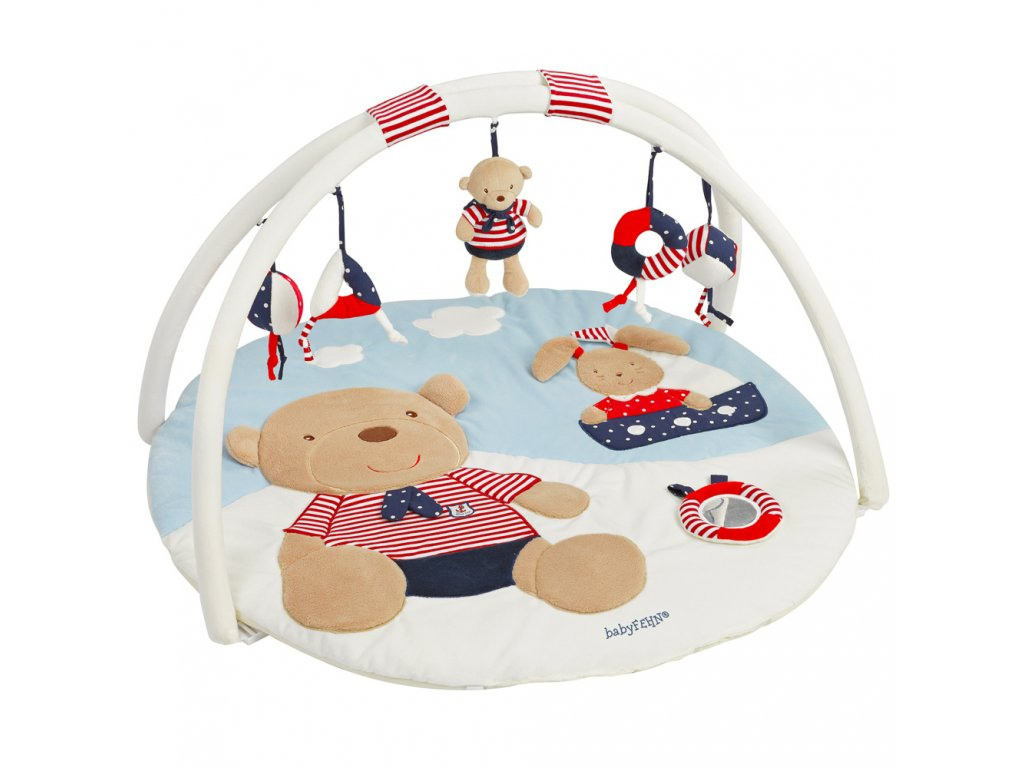BABY FEHN Ocean hrací deka medvěd