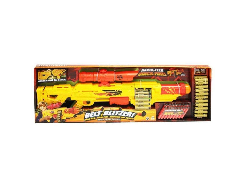 Wiky puška s pásem Huntsman Belt Blitzer Puška 77 cm + 18ks nábojů
