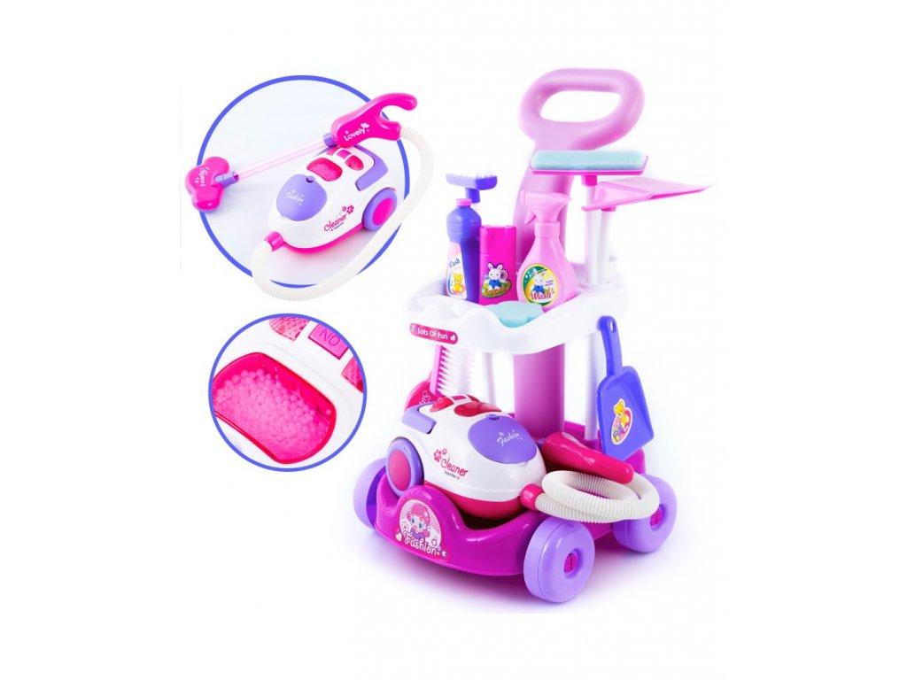 Kinderplay dětská uklízecí sada s ručním vysavačem, fialová