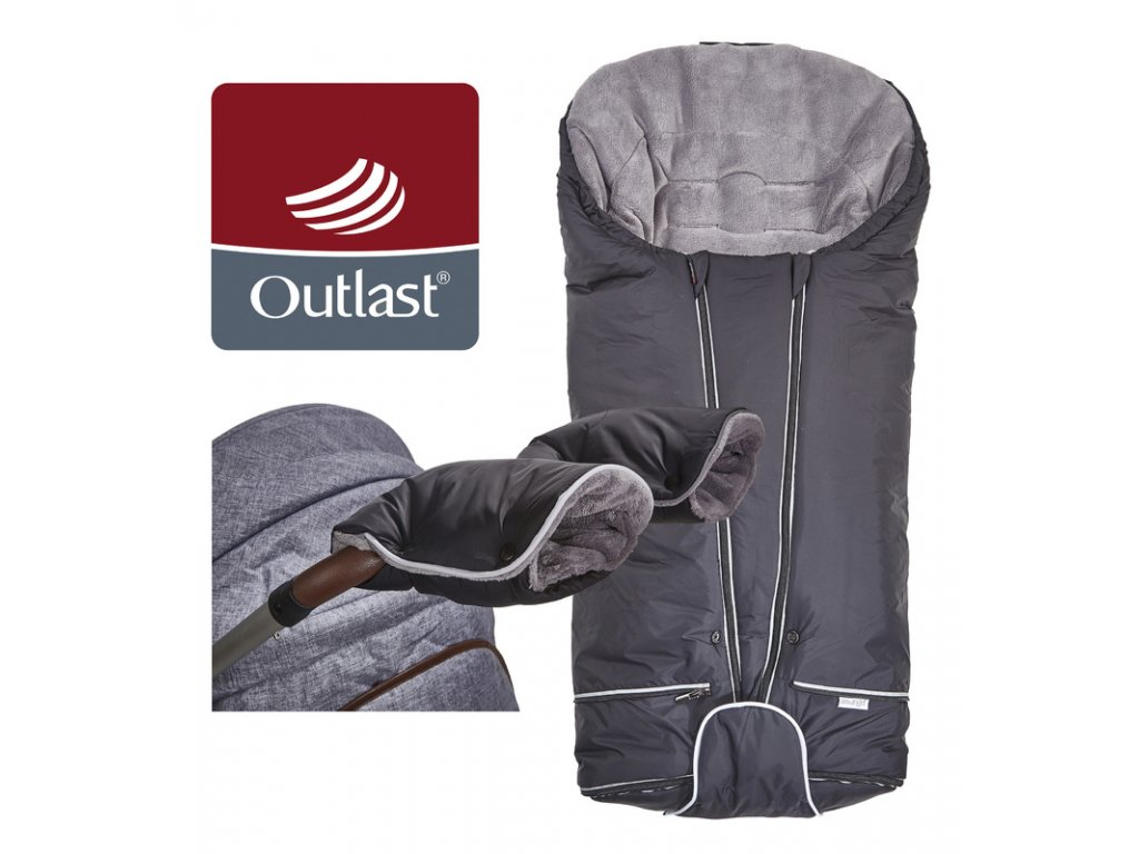 set svítící Fusak Exclusive Outlast a rukavice černá/šedá