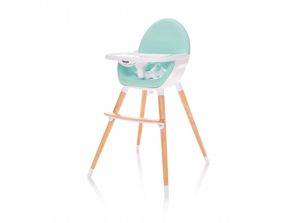 Dětská židlička Dolce, Ice Green