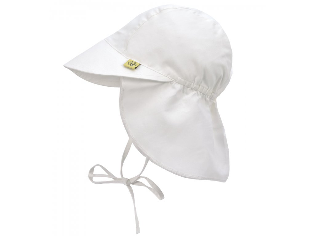 Sun Flap Hat white 09-12 mo.