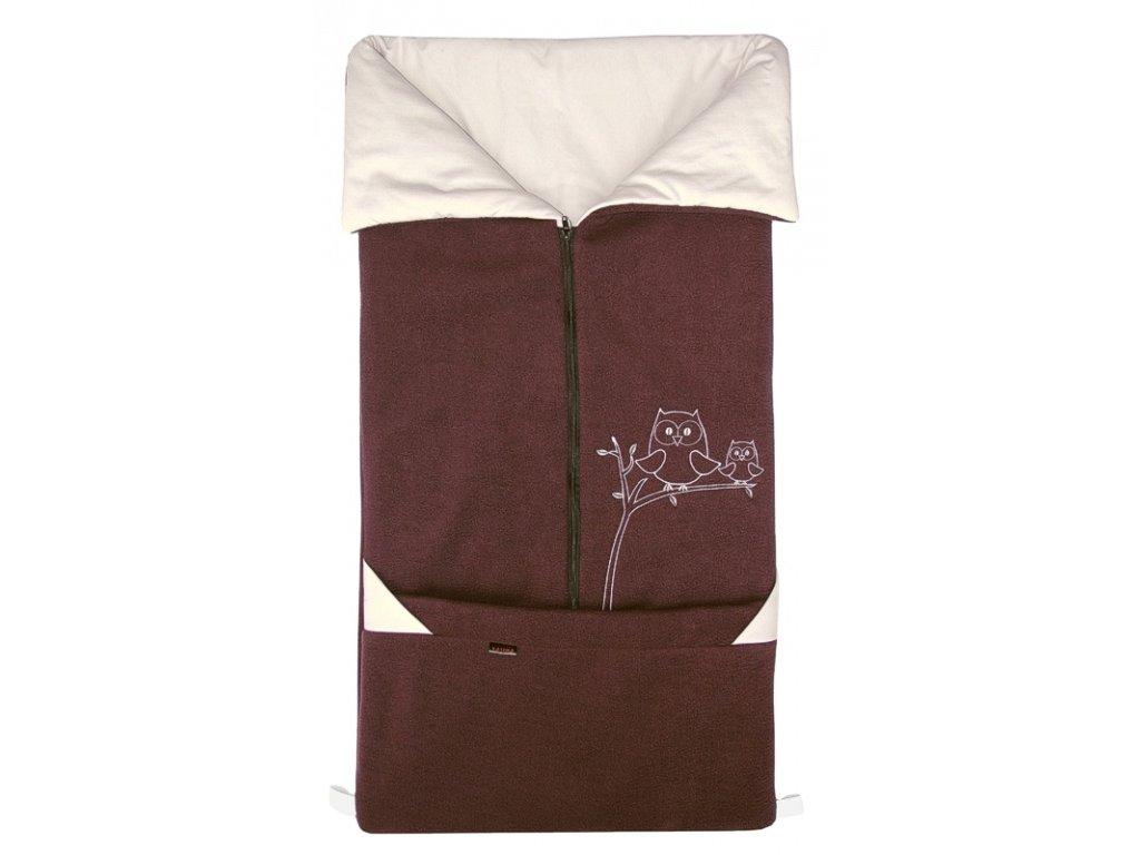 Fusak Emitex 2v1 Fanda Fleece + bavlna - hnědý + béžový