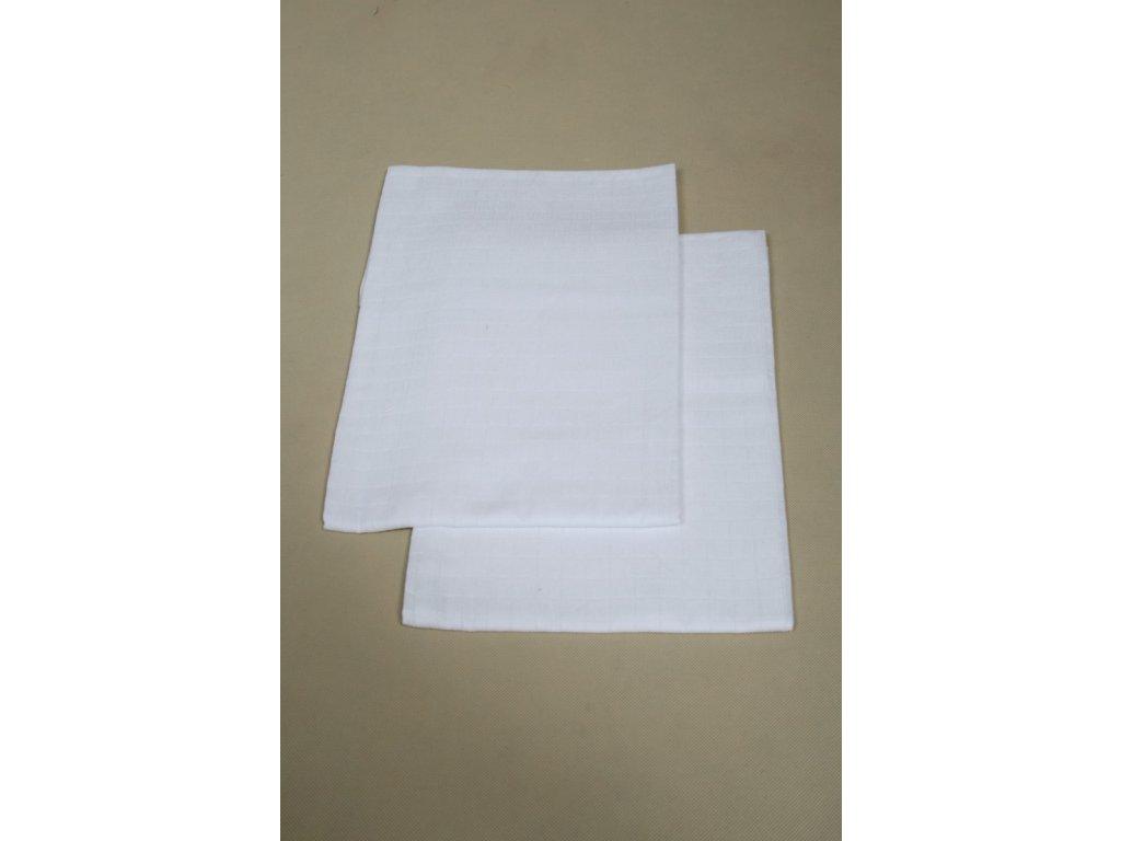 Látkové bavlněné pleny tetra osušky bílé 90x100 cm – 2ks