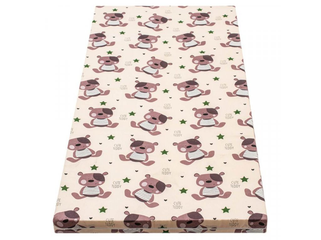 Danpol dětská matrace molitan 120x60x5 cm - barevná s potiskem