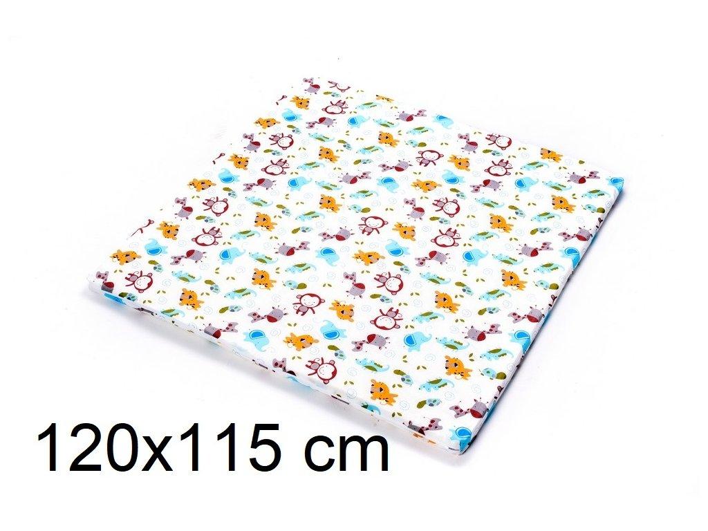 DANPOL Dětská matrace do ohrádky 120 x 115 x 3 cm - barevná s potiskem