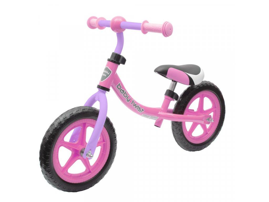 Baby Mix Dětské odrážedlo kolo Twist, růžovo-fialové