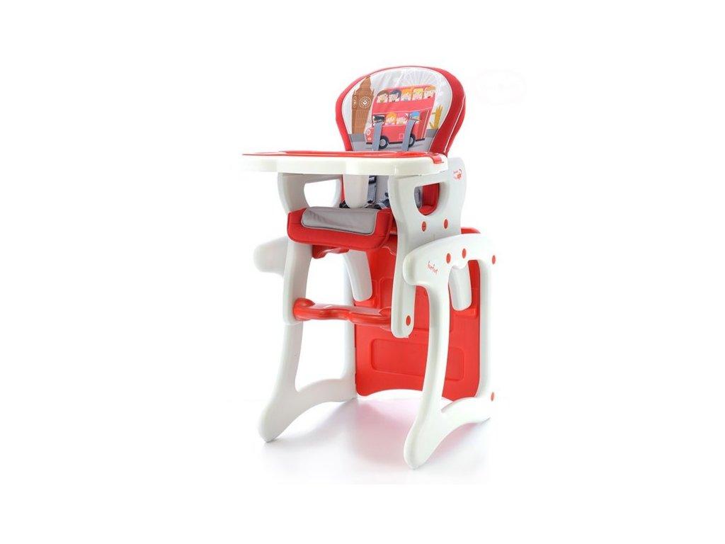 EUROBABY Jídelní židlička víceúčelová 2v1 - červená