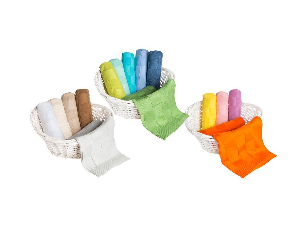 Jemně pletená dětská deka KOSTKA 80x90cm