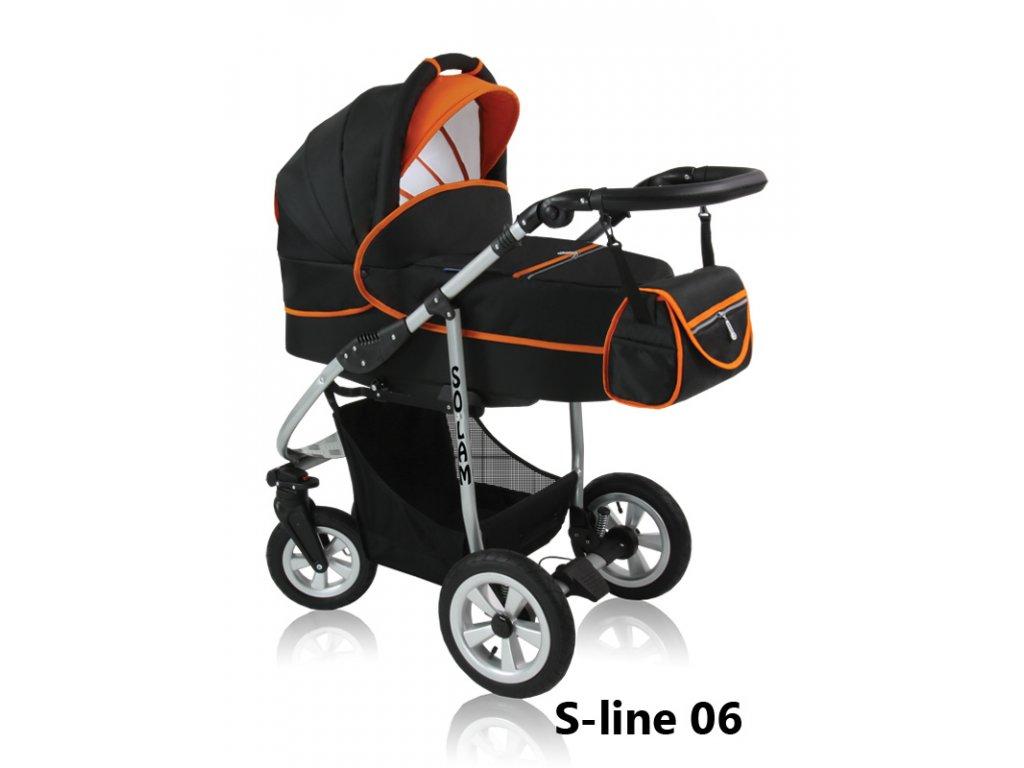 Prampol kombinovaný kočárek Solam 2019 komplet s autosedačkou - S-line 06  + Reflexní náramek zdarma