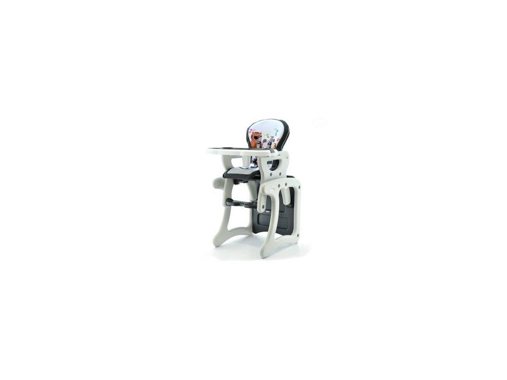 Eurobaby jídelní židlička víceúčelová 2v1, Grey Tiger