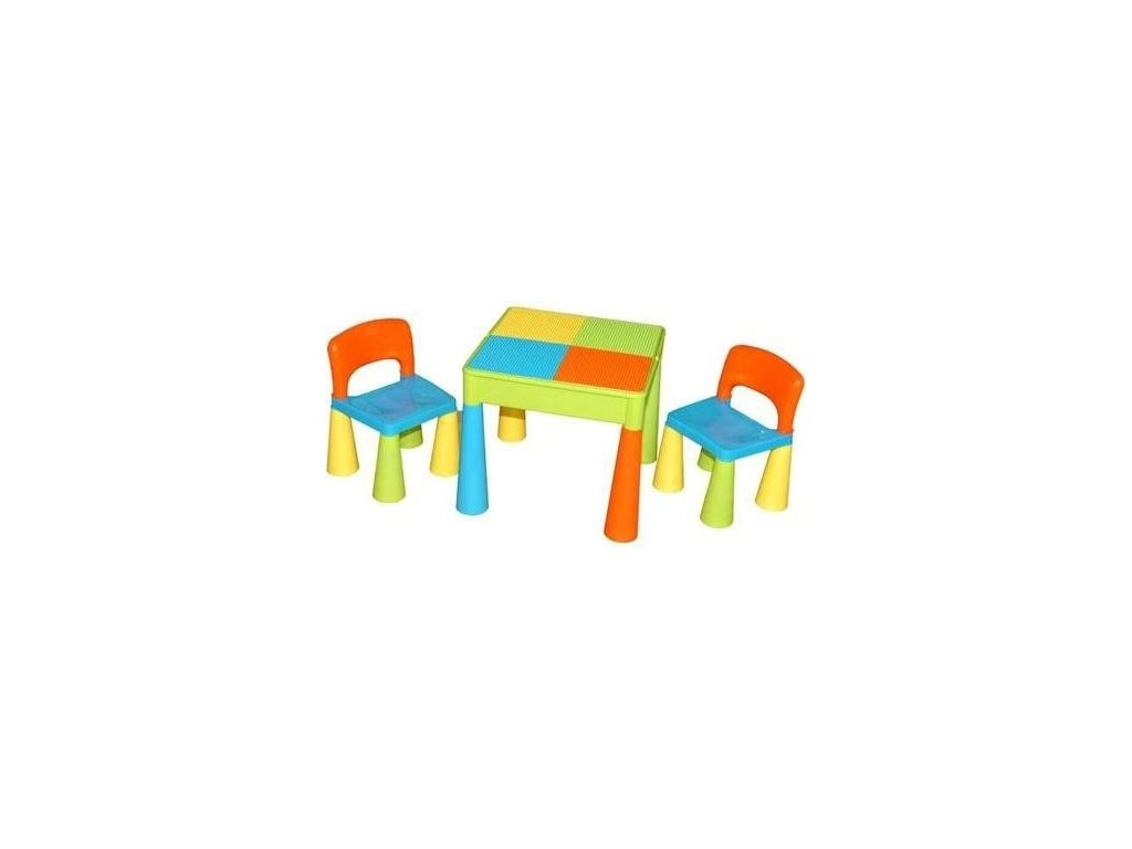 TEGA Dětská sada stoleček a 2 židličky - Multicolor