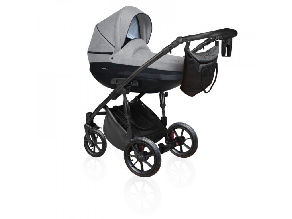 DorJan kombinovaný kočárek Basic Comfort VIP 2020 - Latte