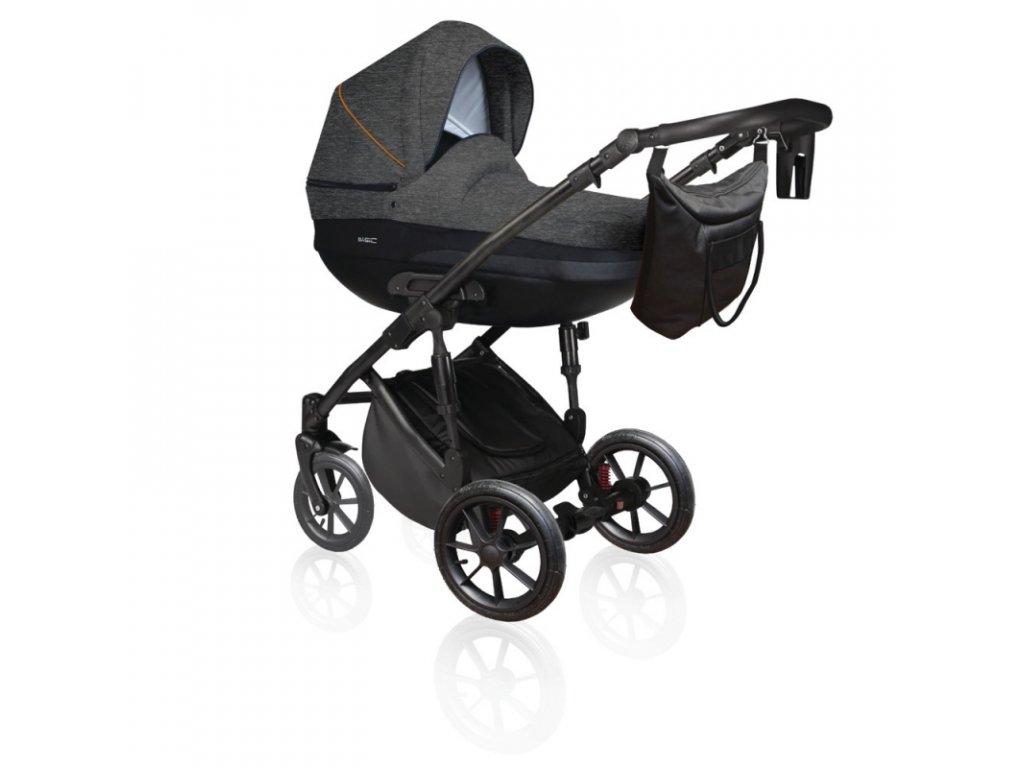 DorJan kombinovaný kočárek Basic Comfort VIP 2020 - Anthracite
