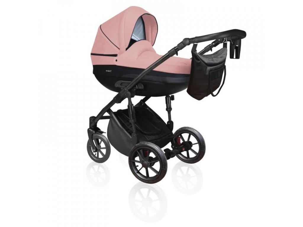 DorJan kombinovaný kočárek Basic Comfort VIP 2020 - Powder pink