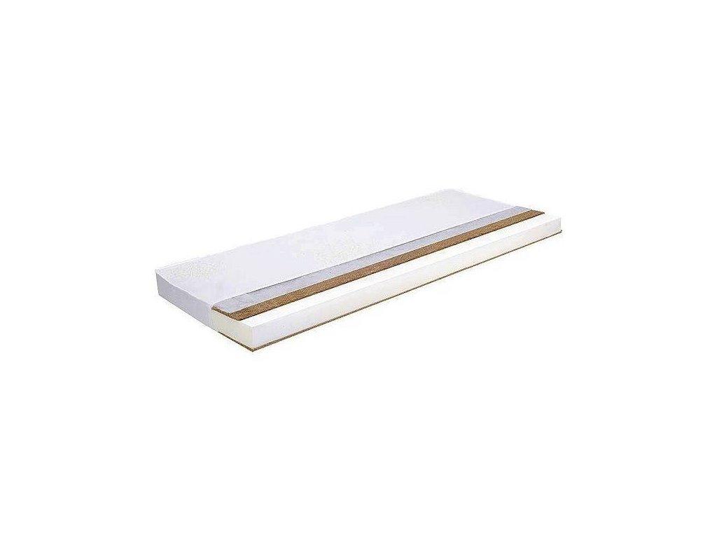 DANPOL Dětská matrace kokos/molitan/kokos 120 x 60 x 8 cm - bílá