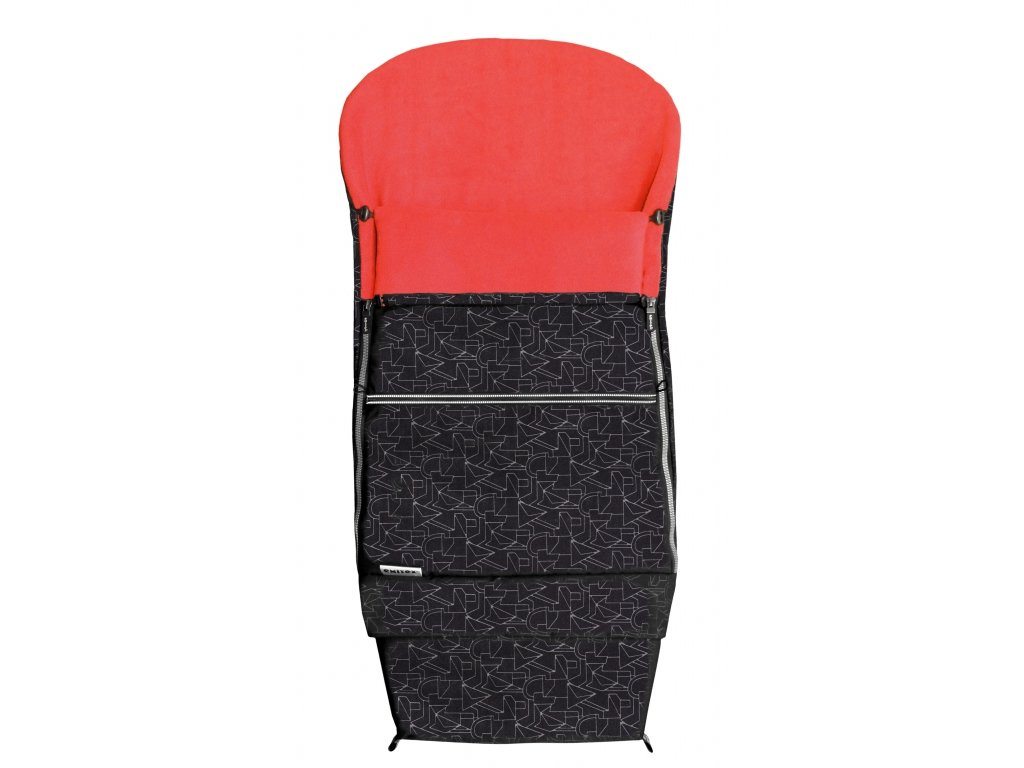 Emitex fusak Combi EXTRA 3v1 zimní - černý + červený