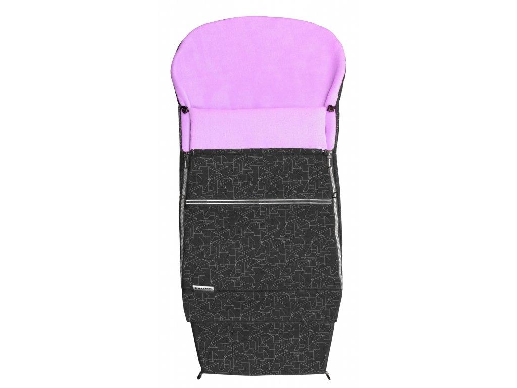 Emitex fusak Combi EXTRA 3v1 zimní - černý + lila