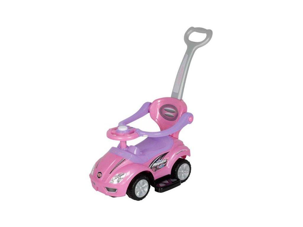 Baby Mix odrážedlo auto 3v1 – Růžové