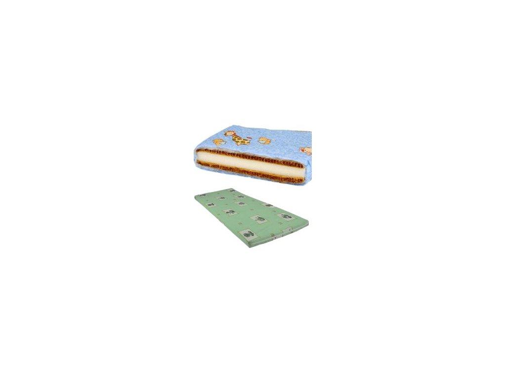 DANPOL Dětská matrace kokos/molitan/kokos 120 x 60 x 7 cm - barevná s potiskem