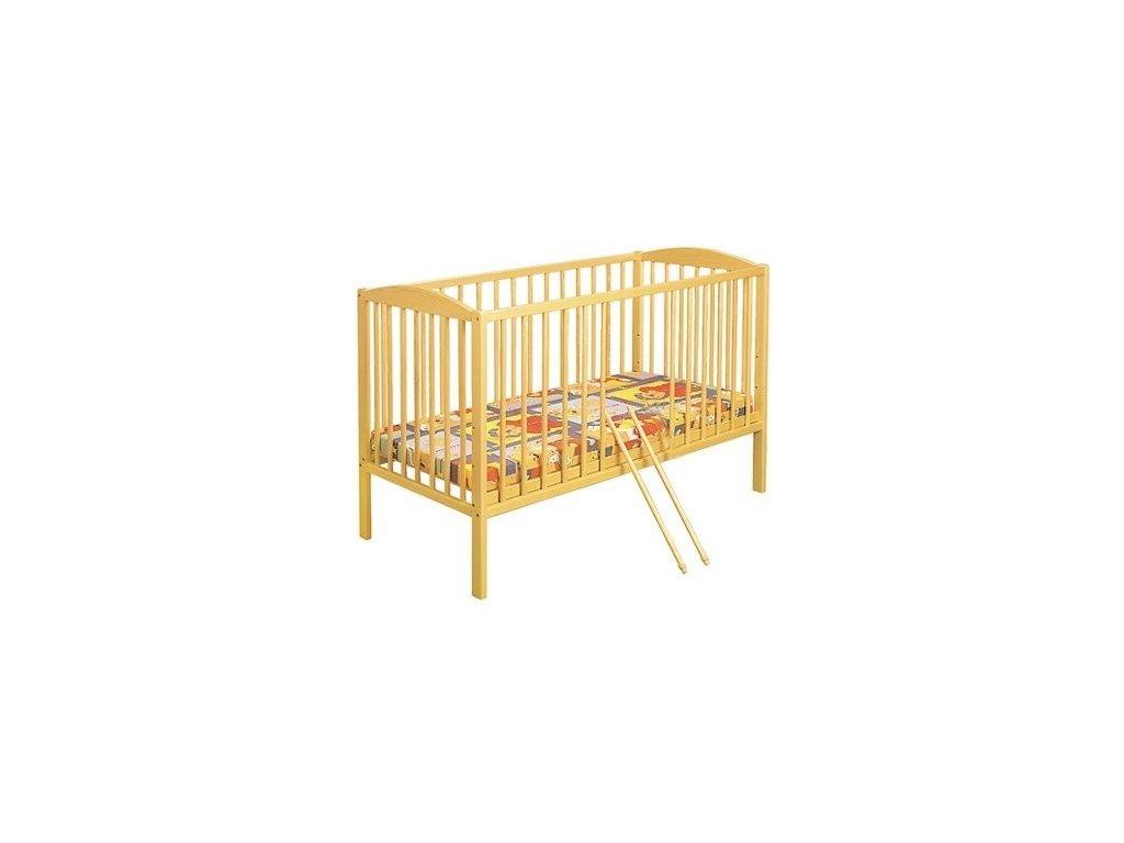 Klups Dětská dřevěná postýlka Radek II 120x60 cm - přírodní