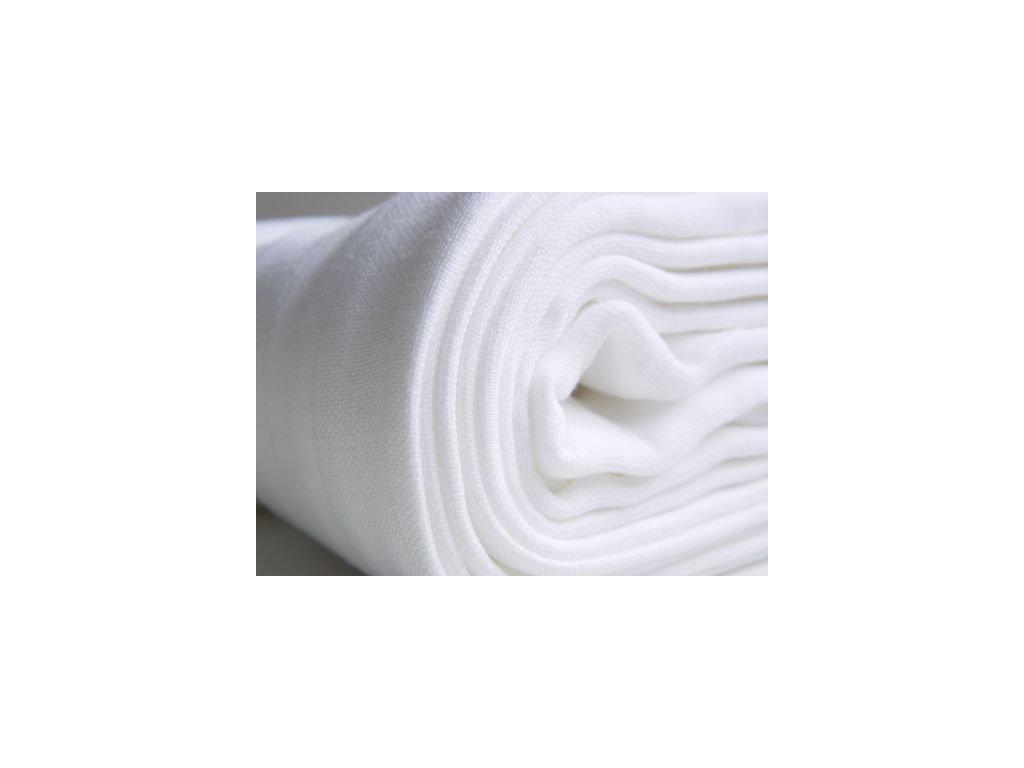 PREM Látkové bavlněné pleny bílé 80x80cm – 10ks