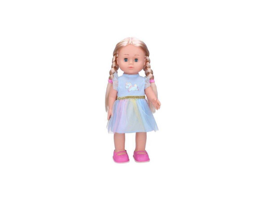 Wiky chodící panenka Eliška 41 cm, modré šaty