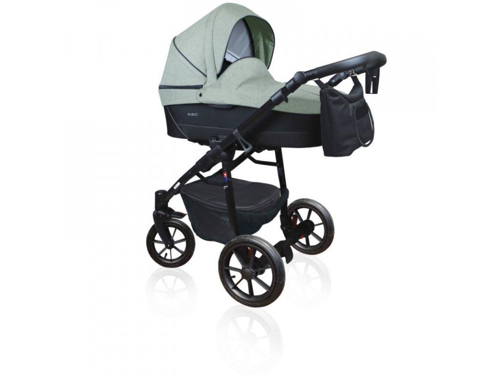 DorJan kombinovaný kočárek Basic Comfort 2020 - Forest Green