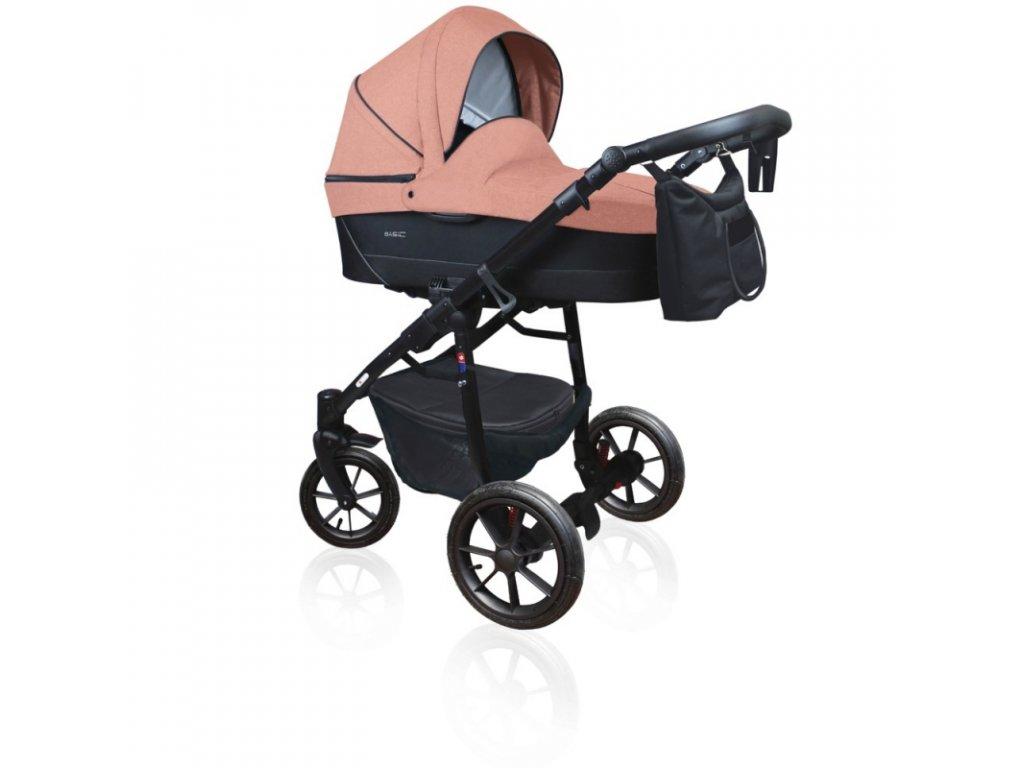DorJan kombinovaný kočárek Basic Comfort 2020 - Powder pink