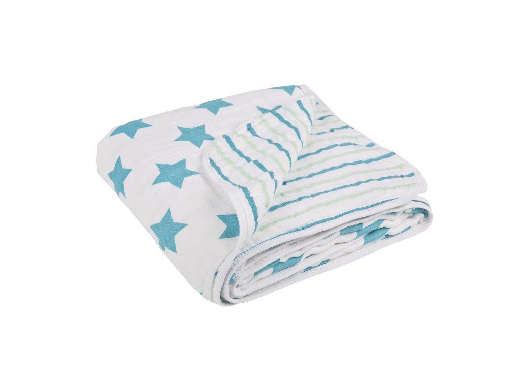 Lässig deka Cozy Blanket 120x120 - stars stripes boys