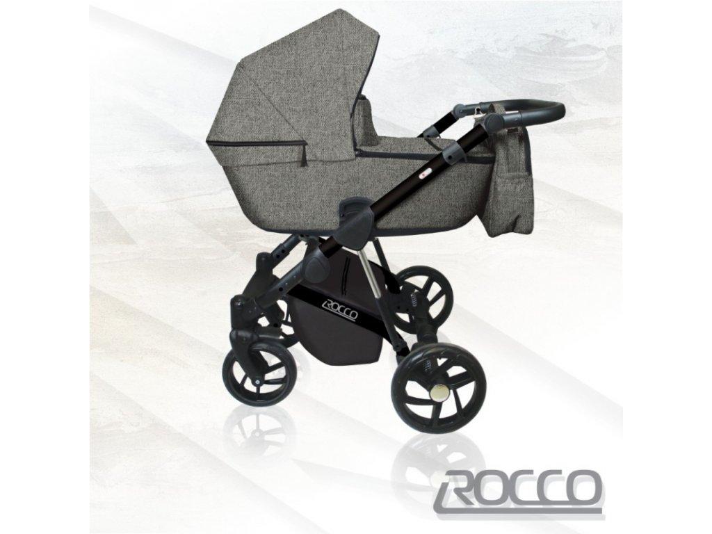 DorJan kombinovaný kočárek Rocco, 04 Dark grey