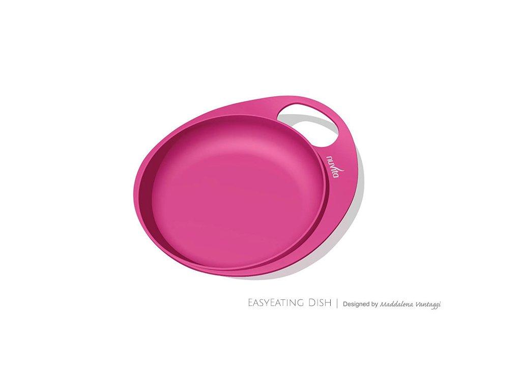 Talíře se zvýšeným okrajem 2ks, Pink