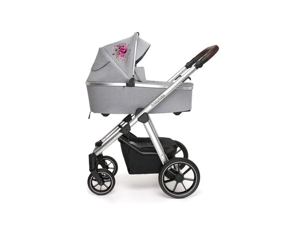 Baby Design kombinovaný kočárek Bueno, 107  + Reflexní náramek zdarma