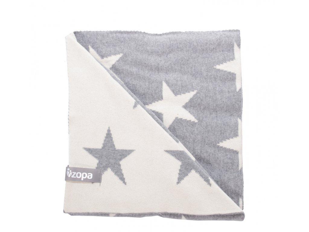 Dětská deka Stars, Grey