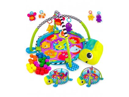 turtle baby gym 3 in 1 activity play floor mat ball pit toys babies playmat
