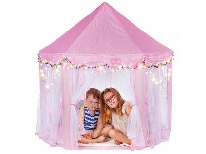 Campela magický dětský palác/stan, růžový