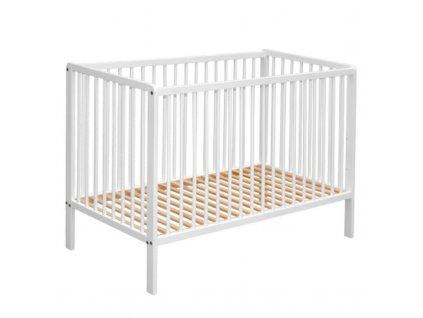 cosing wooden cot 60x120cm beech white