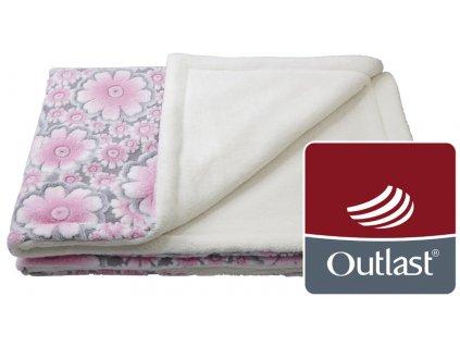 deka dvojitá Mazlík Outlast krémová/kytky
