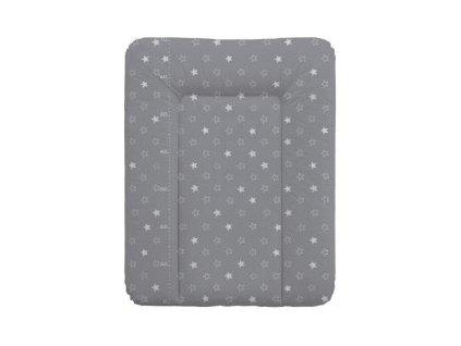 CEBA BABY Přebalovací podložka měkká 70 x 50 cm - Hvězdy tmavě šedá