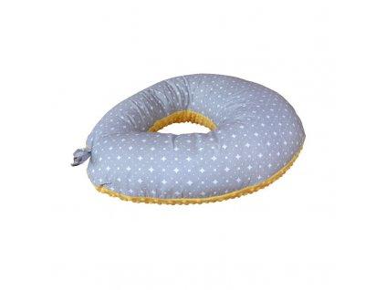 COSING Kojící polštář Sleeplease Minky + bavlna - Puntíky žlutá