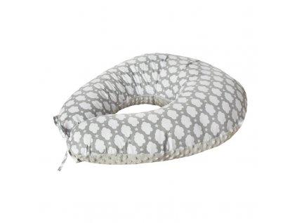 COSING Kojící polštář Sleeplease Minky + bavlna - Mráček šedá