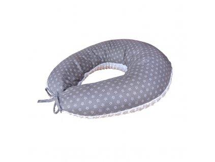 COSING Kojící polštář Sleeplease Minky + bavlna - Hvězdy bílá