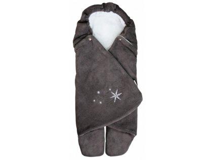 Zavinovačka do autosedačky zimní ZOE Emitex fleece - antracit/šedá