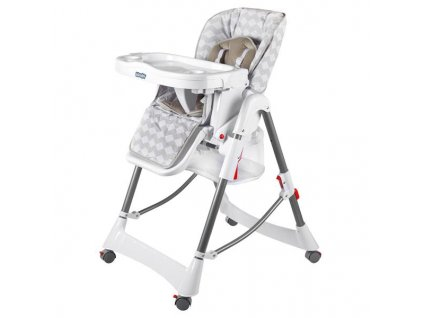 Kinderplay jídelní židlička Standard, White diamond