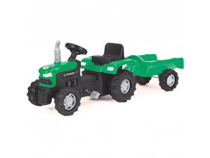 Buddy Toys šlapací traktor s vozíkem - zelený